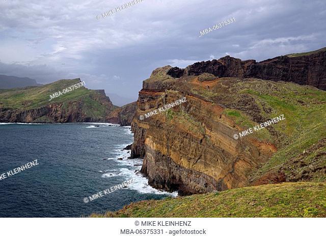 Portugal, Madeira, rocks, volcanically, coast, sea