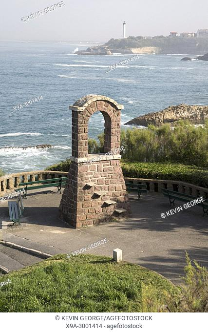 Arch and Lighthouse, Biarritz; France