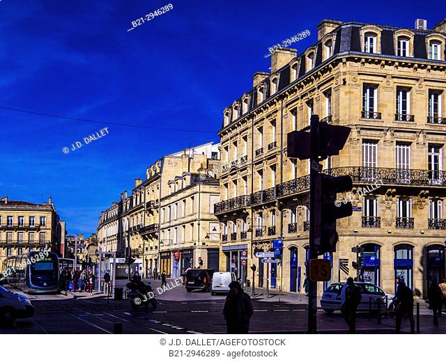 France, Aquitaine-Gironde. Place Pey Berland, at Bordeaux