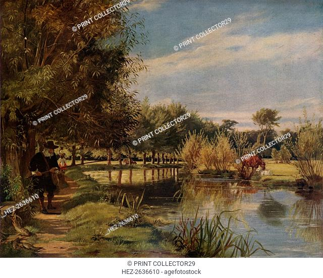 'Izaak Walton angling: A Summer's day on the banks of the Colne', (1938). Artist: Edward Matthew Ward