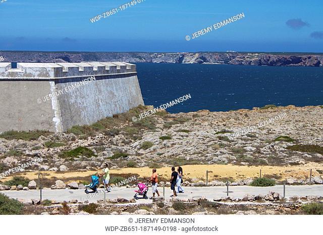 Fort at Punta de Sagres, Algarve, Portugal
