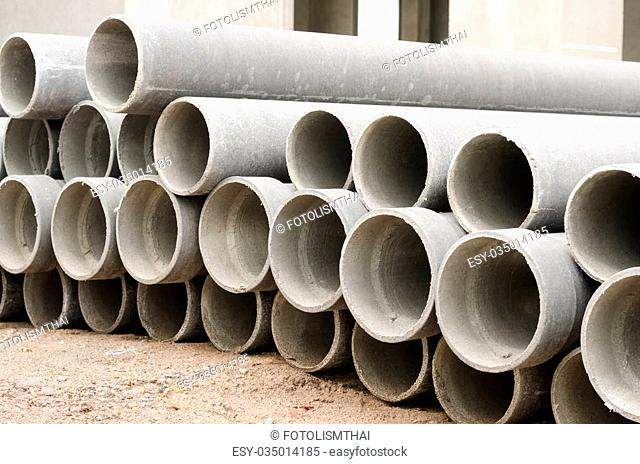 Asbestos cement pipes used for drainage construction