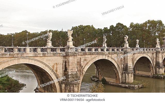 Bridge, Viktor Emanuels II, Rome, Italy, Europe