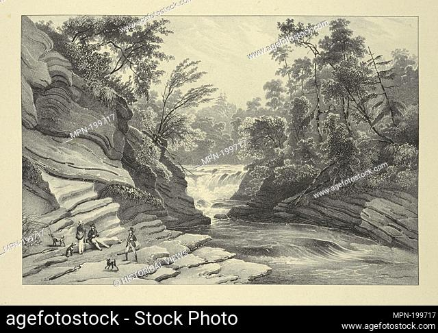 Commencement of the Falls of Canada Creek Additional title: Itinéraire pittoresque du fleuve Hudson. Eno, Amos F., 1836-1915 (Collector) Milbert