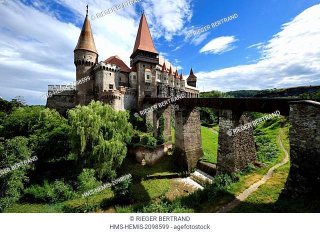 Romania, Transylvania, Hunedoara, Hunyad Castle or Corvin Castle