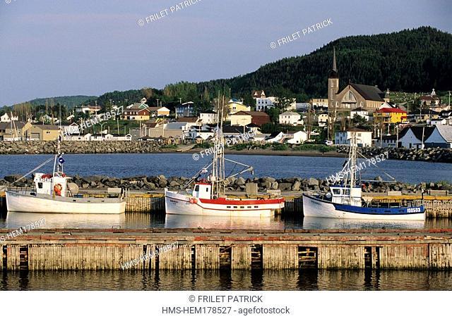 Canada, Quebec Province, Gaspesia, Riviere Au Renard, fishing harbor
