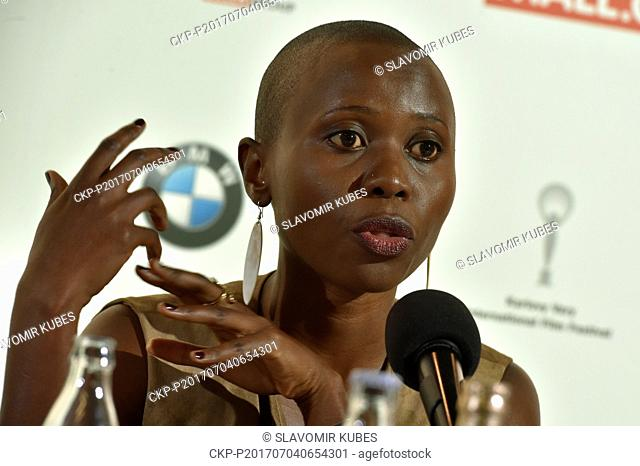 Actress Eliane Umuhire presents Polish film Birds Are Singing in Kigali during the 52nd International Film Festival in Karlovy Vary, Czech Republic, on July 4