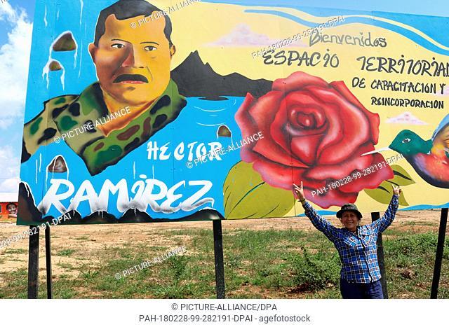 27 January 2018, Colombia, Agua Bonita: The former guerrilla fighter of the guerrilla organisation Farc, Sandra Gonzalez