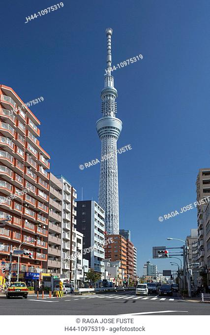 City, Japan, Asia, Sky Tree, building, Tall, Tokyo, architecture, asakusa, no people, popular, structure, tall, touristic, tower, travel