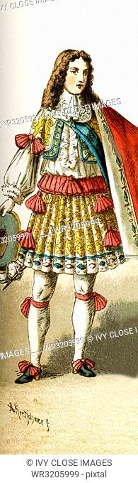 The Figure represented here is Philipp of Orleans, Duke of Chartres, in 1660. The illustration dates to 1882