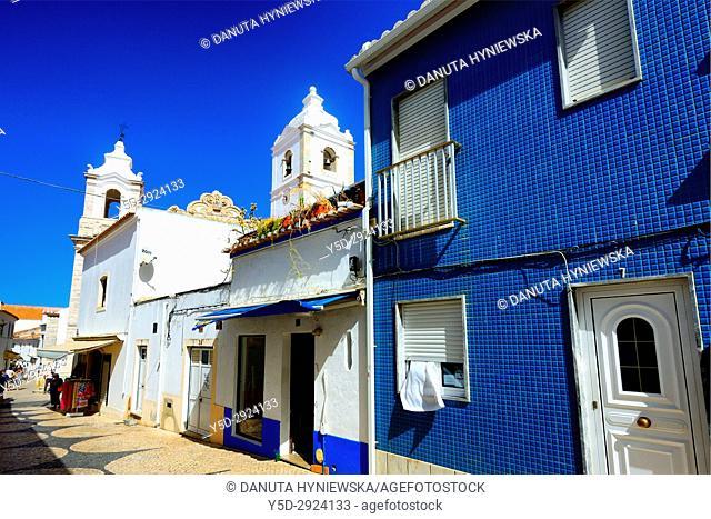 architecture in historic part of Lagos city, Algarve, Portugal, Europe