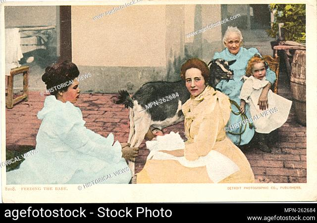 Feeding the Baby, Cuba. Detroit Publishing Company postcards 8000 Series. Date Issued: 1898 - 1931 Place: Detroit Publisher: Detroit Publishing Company