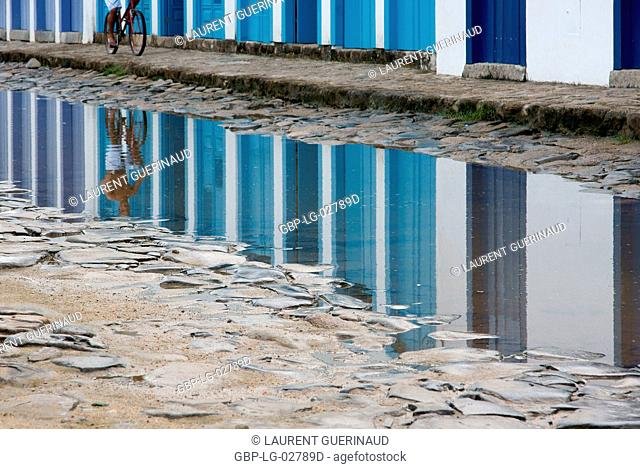 Reflex, Puddle of Water, Paraty, Rio de Janeiro, Brazil