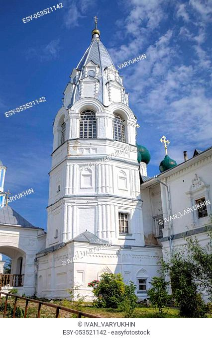 "Belltower of Annunciation Church and chapel """"Stolp (Pillar)"""". Nikitsky Monastery. Pereslavl-Zalessky, Russia"