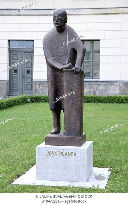 Statue of Max Planck, Humboldt University. Berlin, Germany
