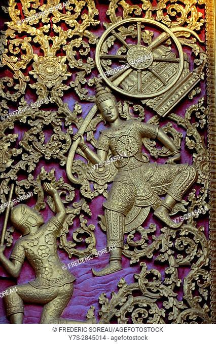Buddhist temple decoration,Luang Prabang,South Laos,Southeast Asia