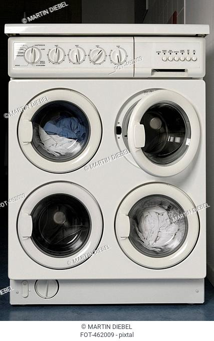 A washing machine with four drums
