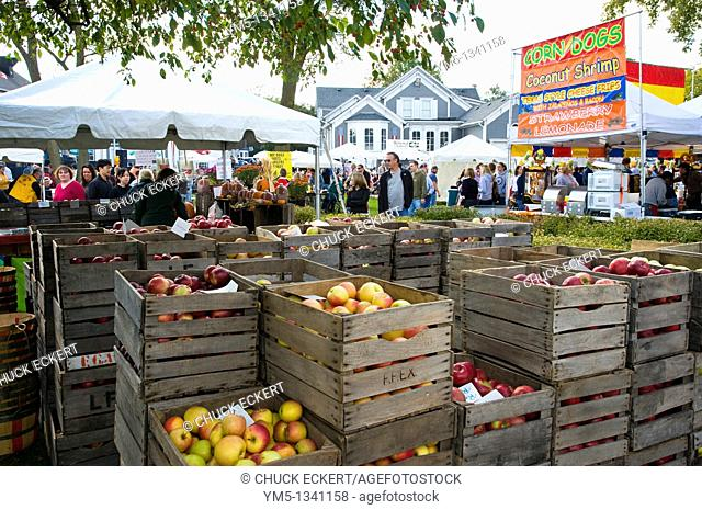 Small town American Apple Festival in Long Grove, Illinois
