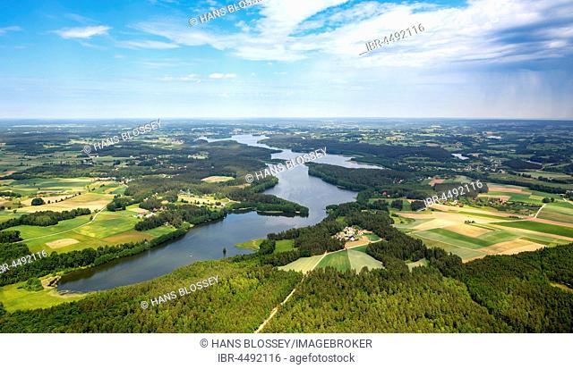Lake scenery, Pomeranian Lake District, Zakowo, Western Pomerania Province, Poland