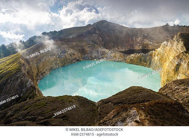 Kelimutu volcano. Kelimutu National Park. Flores island. Indonesia, Asia