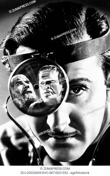 1939, Film Title: SON OF FRANKENSTEIN, Director: ROLAND V LEE, Studio: UNIV, Pictured: FRANKENSTEIN, BORIS KARLOFF, ROLAND V LEE, BELA LUGOSI
