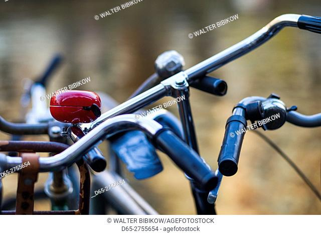 Netherlands, Amsterdam, bicycle detail