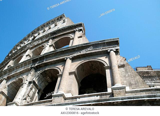 Italy, outside view; Rome, Colosseum