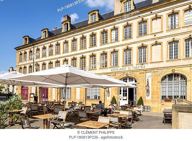 Restaurant El Theatris at the Place de la Comédie / Comedy square in the city Metz, Moselle, Lorraine, France