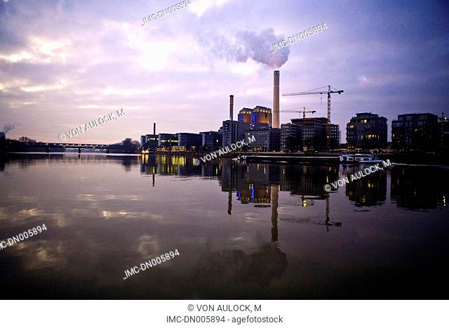 Germany, Hesse, Frankfurt, power plant