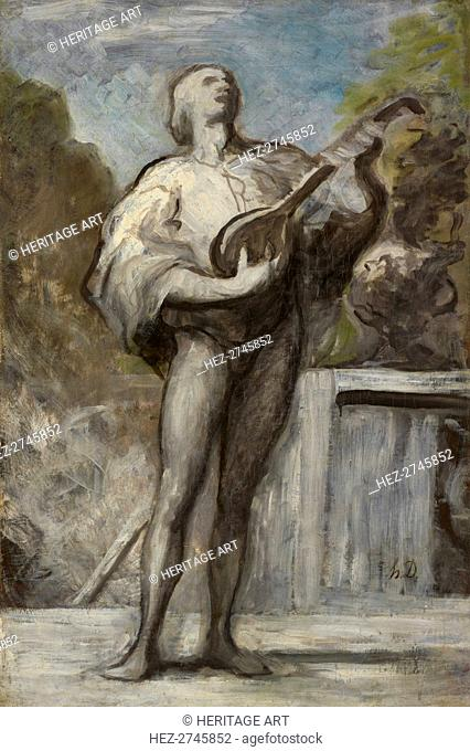 The Troubadour, 1868-1873. Creator: Honoré Daumier (French, 1808-1879)