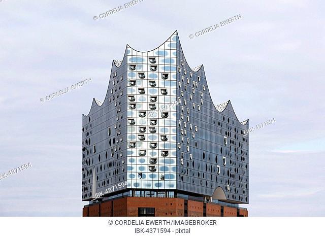 Glass facade, Elbe Philharmonic Hall, Hamburg, Germany