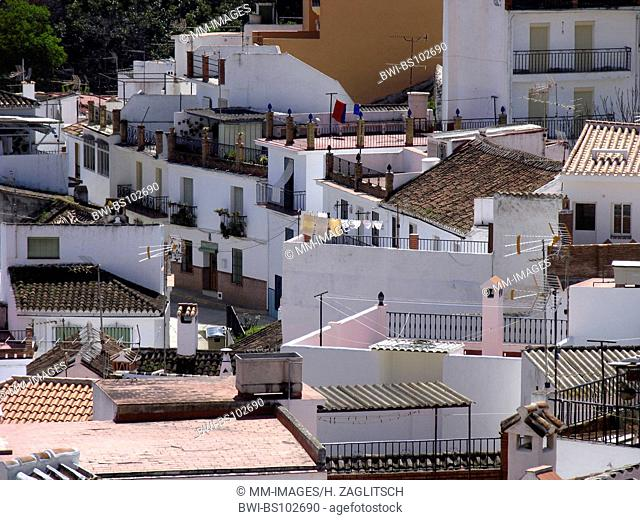 typical houses of Monda, Costa del Sol, Spain, Andalusia