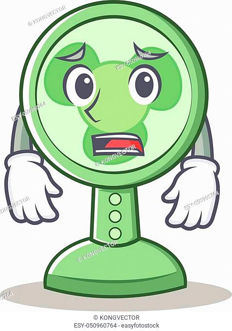 Afraid fan character cartoon style vector illustration