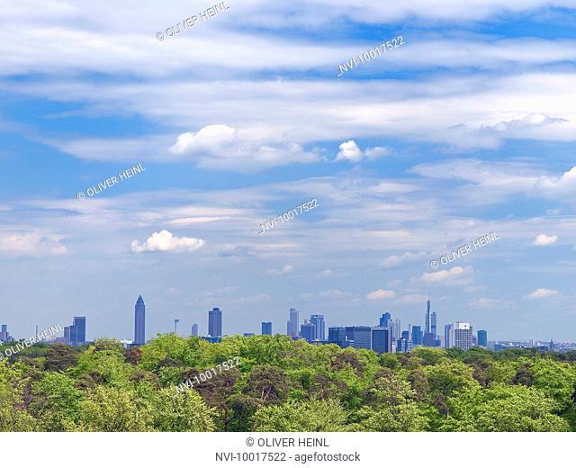 Skyline Frankfurt am Main, Hesse, Germany, Europe