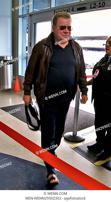 William Shatner departs from Los Angeles International Airport (LAX) Featuring: William Shatner Where: Los Angeles, California