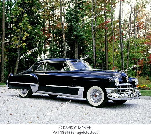Vintage 1951 Cadillac Coupe de Ville Series 62 car, Waterloo, Quebec, Canada