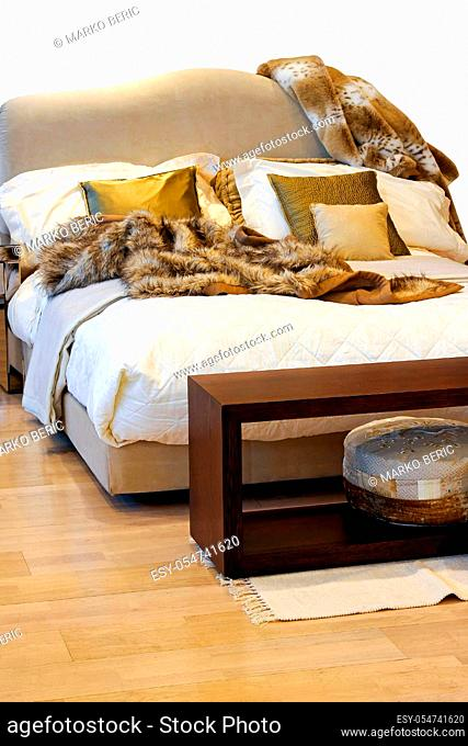 Bedroom Fur Rug Stock Photos And Images Agefotostock