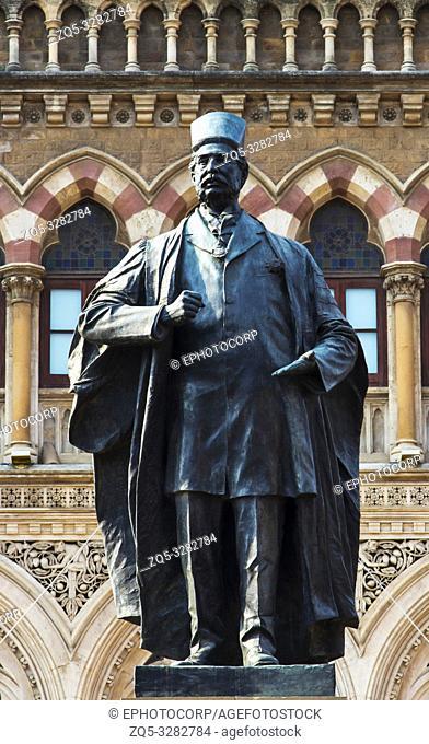 Pherozshah Mehta, BMC statue, Mumbai, Maharashtra, India