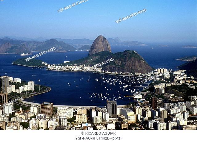 Pão de Açúcar, Baia de Guanabara, Botafogo, Rio de Janeiro, Brazil