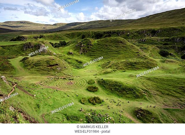 United Kingdom, Scotland, Inner Hebrides, Isle of Skye, Uig, Fairy Glen