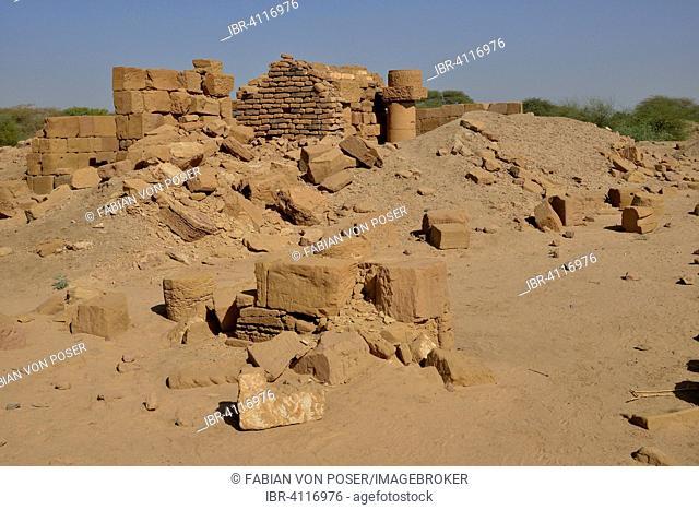 Ruins of the royal city of Meroe, Nubia, Nahr an-Nil, Sudan