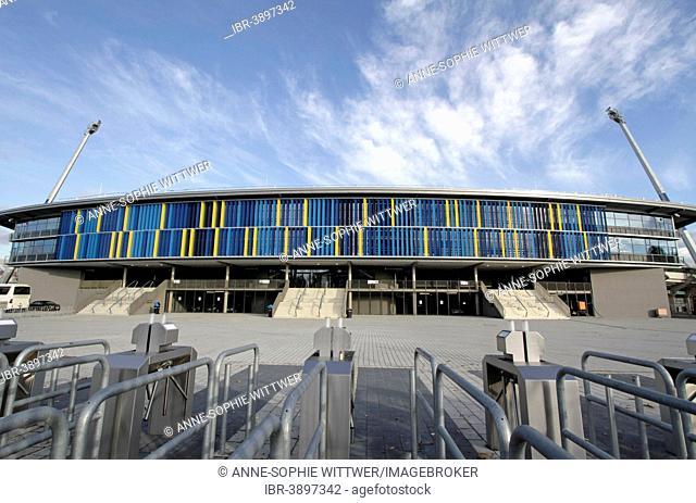 Eintracht Stadium at Hamburger Straße with a new front, Braunschweig or Brunswick, Lower Saxony, Germany