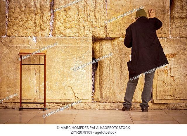 Praying at the Western Wall (Jerusalem)