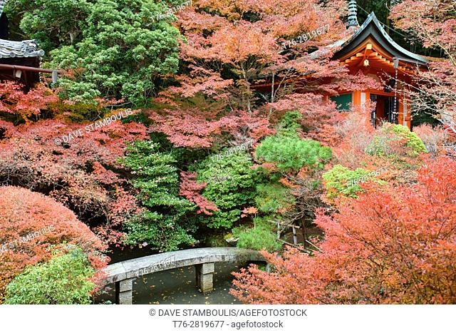 Autumn colors at Bishumondo Temple, Kyoto, Japan