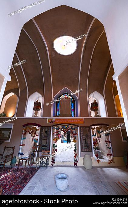 Traditional house, Khaloo MIrza Hotel, Yazd, Iran, Western Asia, Asia, Middle East