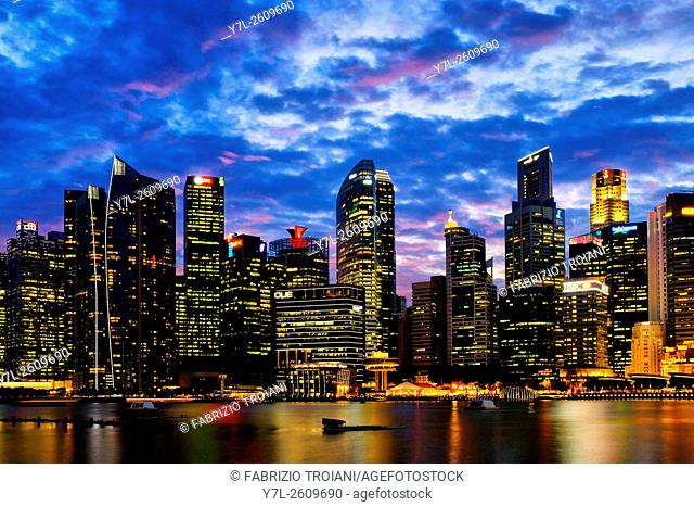 View of downtown core from the Marina Bay, Singapore