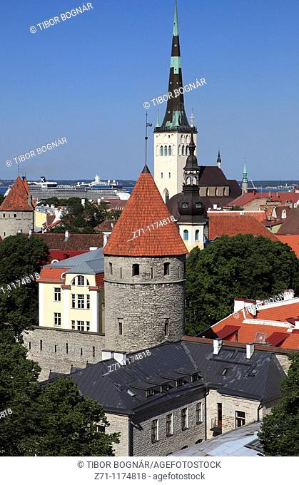 Estonia, Tallinn, skyline, general view