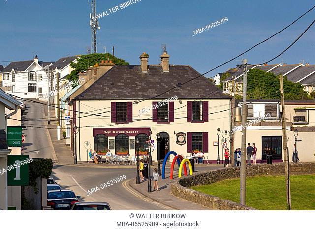 Ireland, County Wexford, Duncannon, village view