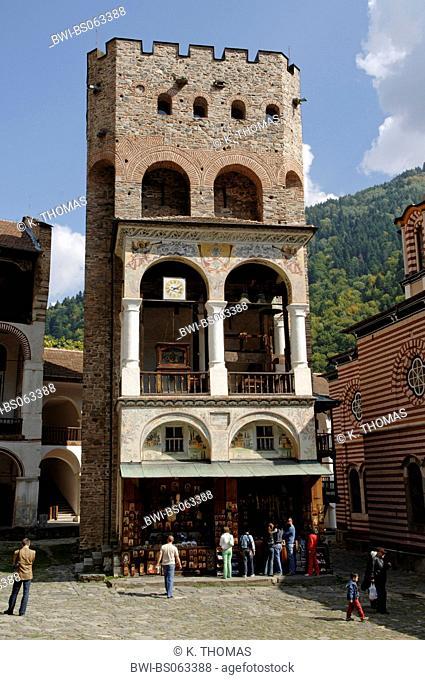 Rila monastery, Chreljo tower, Bulgaria, Rila Mountains, Rila