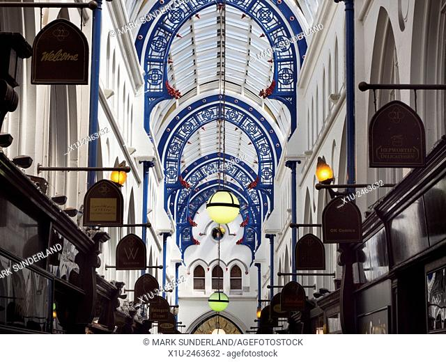 Thorntons Arcade in the Victoria Quarter Leeds West Yorkshire England
